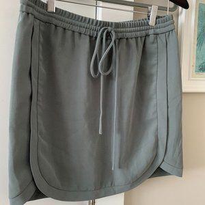 JCrew drawstring elastic skirt size 6 glass green